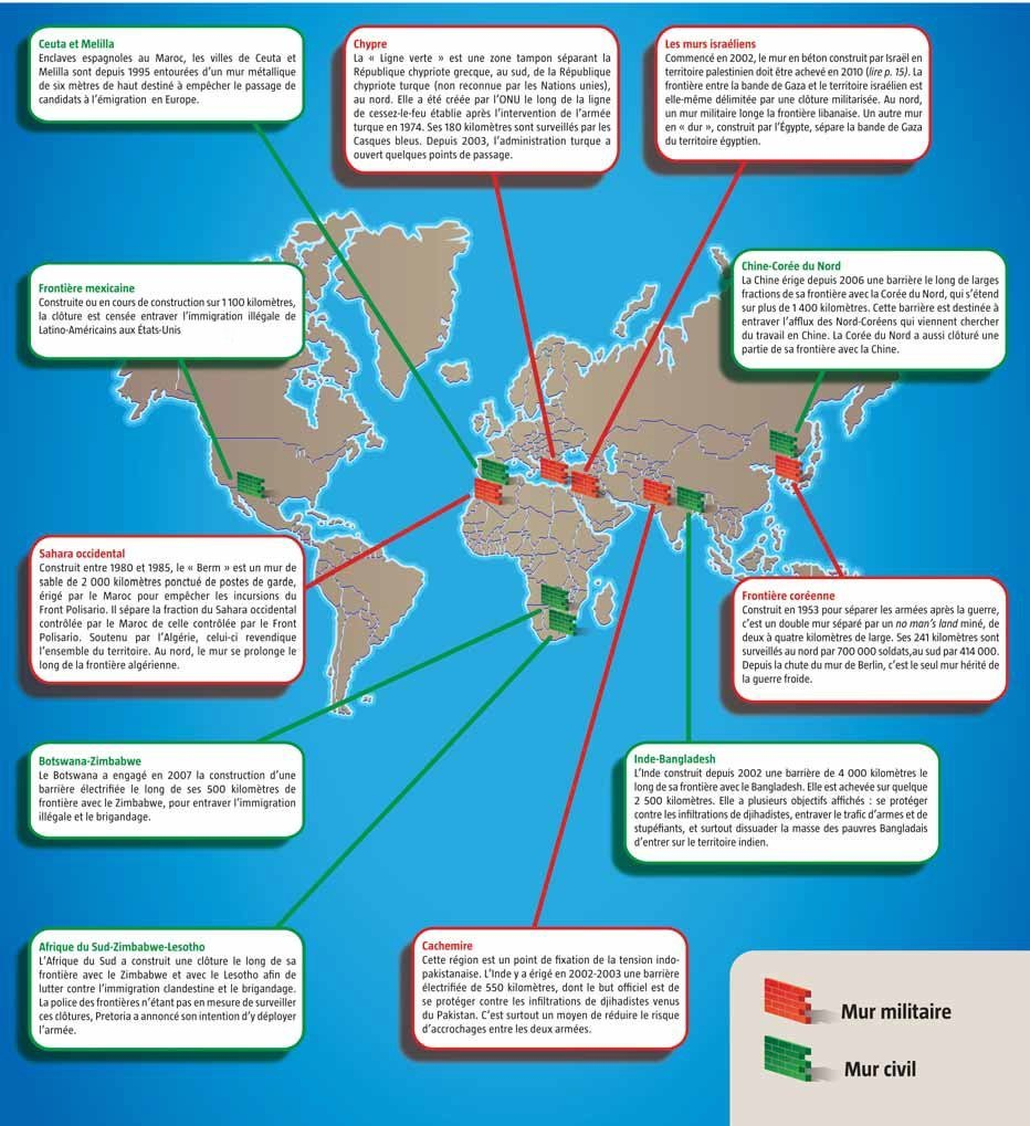 Carte murs monde