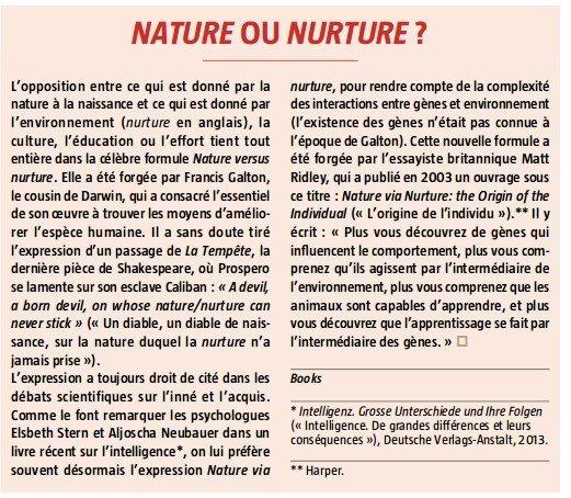nature ou nurture