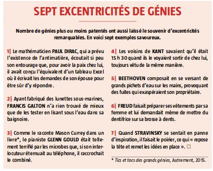 sept excentricites de genie