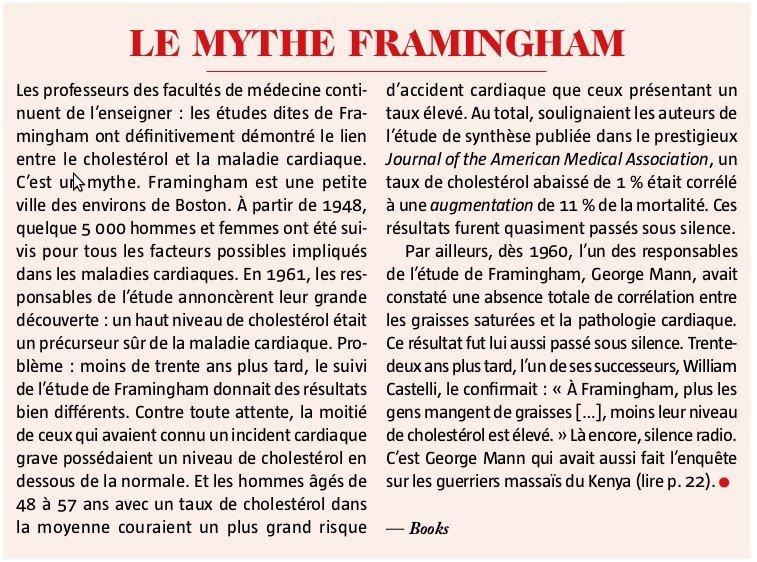 le mythe framingham