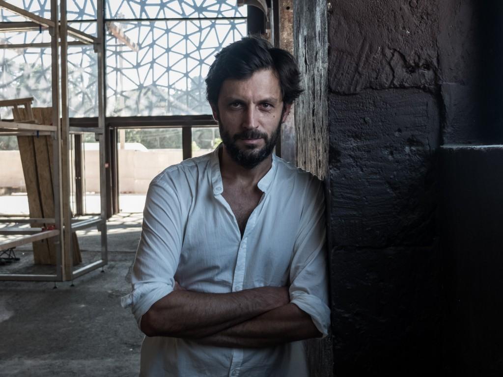 Ambroise Tézenas, auteur du travail «I was here, tourisme de la désolation», exposé lors des Rencontres de la photographie d'Arles 2015 – Arles, le 9 juillet 2015. ©Pierre-Yves Massot