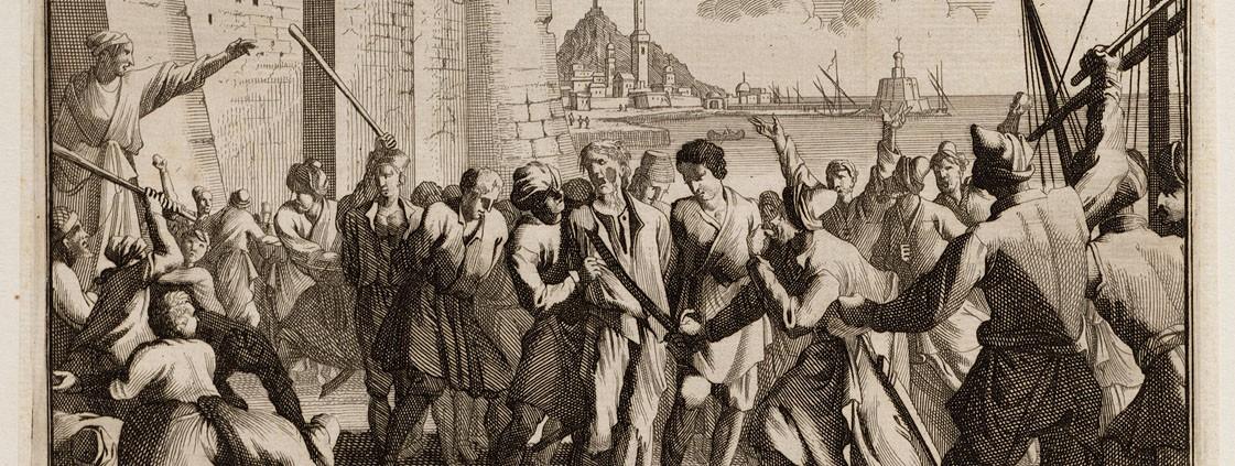 HISTOIRE ABRÉGÉE DE L'ÉGLISE - PAR M. LHOMOND – France - 1818 - DEUXIEME PARTIE ( Images et Cartes) Debarquement_et_maltraitement_de_prisonniers_a_alger-1121x423