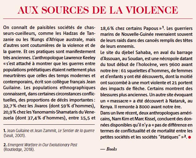 aux sources de la violence