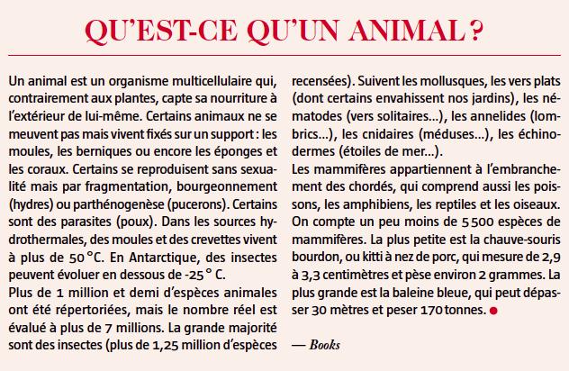 définition animal
